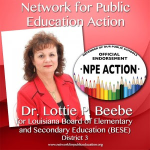 NPE Action Endorses Dr. Lottie Beebe for BESE