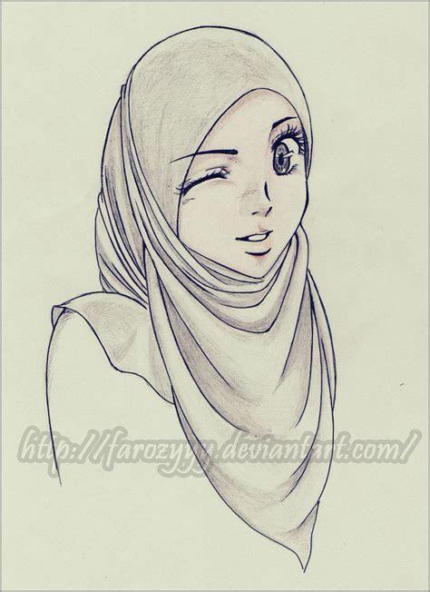 anime hijab drawinganime sketch bartlkzizimi tesettr