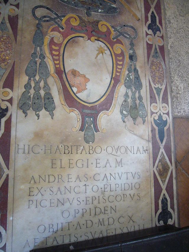 S Angelo - Caterina dei Funari s - tomba di Andrea CAPP Canuto Canuto 1610 1050539.JPG