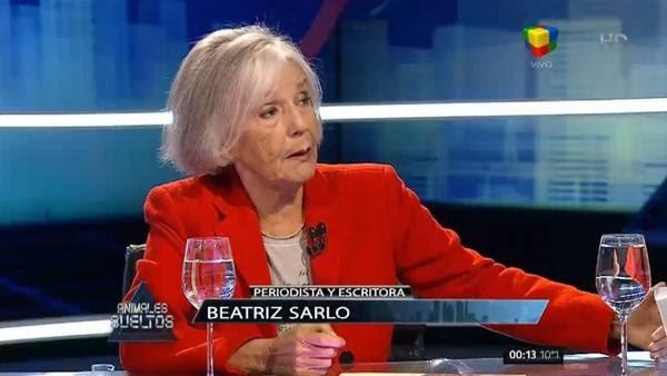 Beatriz Sarlo, anoche en Animales Sueltos. / América TV