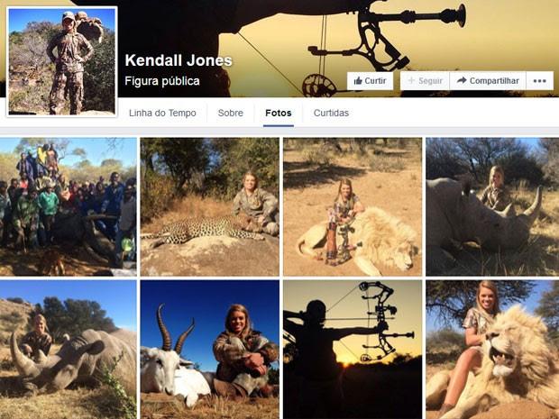 Kendall Jones posta fotos ao lado de animais mortos por ela (Foto: Reprodução/Facebook/Kendall Jones)