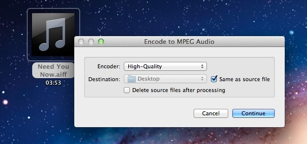Convert Audio to M4A in Mac OS X 10.7 Lion