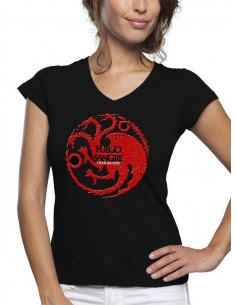 camiseta juego de tronos-Casa Tagaryen-manga corta chica