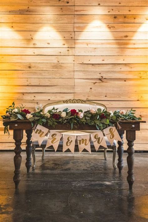 20 Fall Wedding Reception ? Sweetheart Table Ideas   Roses