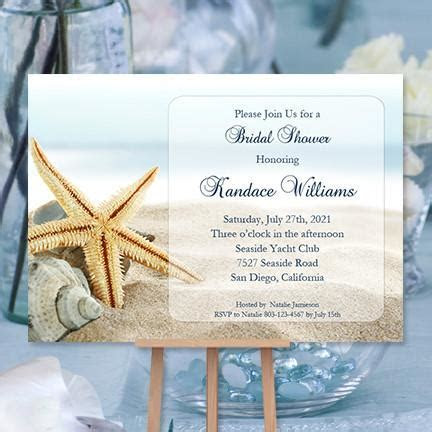 Beach Bridal Shower Invitation Tropical Destination