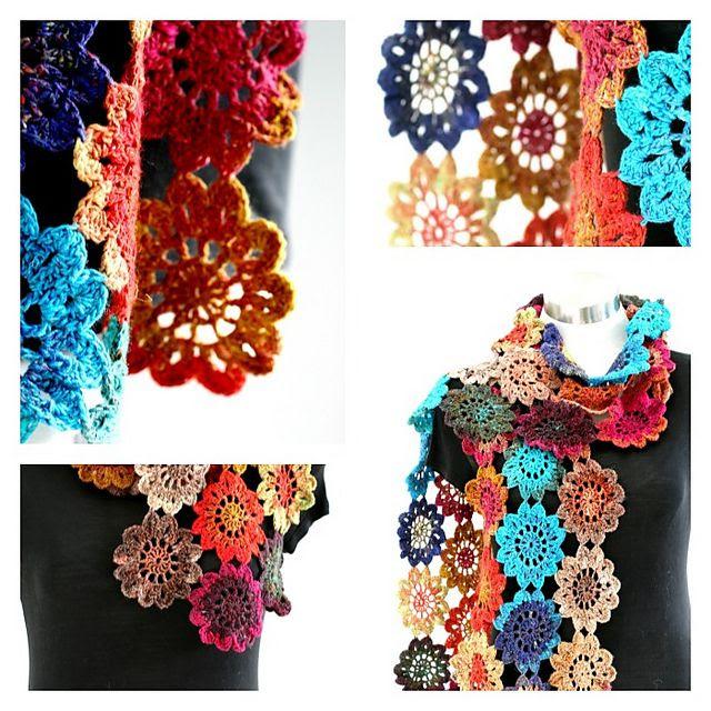 Japanese Flower, free pattern by Grace Ann.    Free Patterns from…