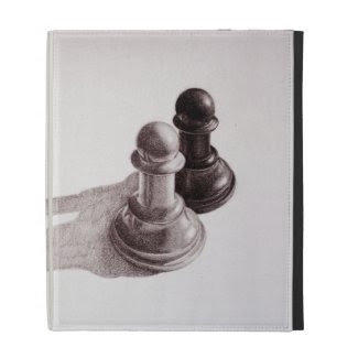 Pencil Drawn Pawns Ches IPad Caseable Cases