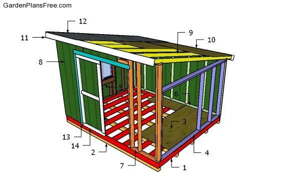 10x12 Lean to Shed Plans - PDF Download   Free Garden ...