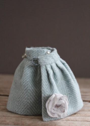 Wool Flannel Wrap skirt
