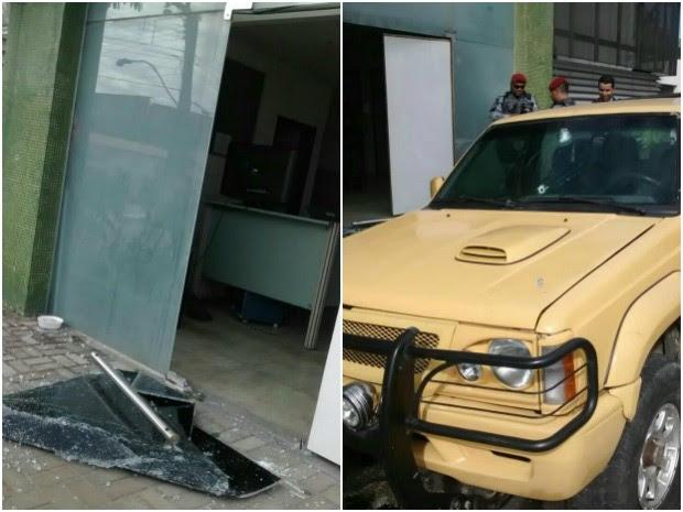 Prédio do 20º Distrito Policial é baleado (Foto: Arquivo Pessoal)