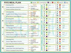 piyo meal plan  easy recipes pinterest meal