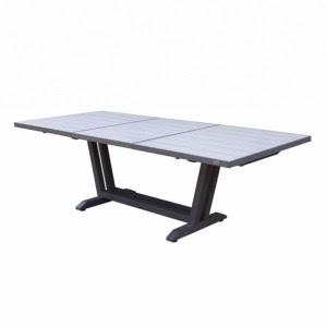 Amaka Table 170230x90cm Pied Gris Plateau Hpl Coloris Céramique Grise Les Jardins