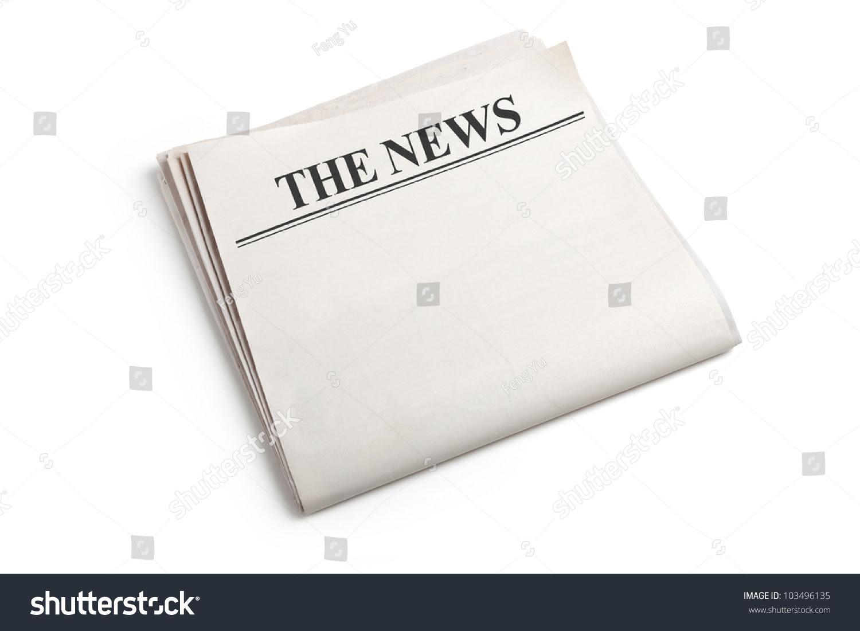 Blank Newspaper White Background Stock Photo 103496135 - Shutterstock