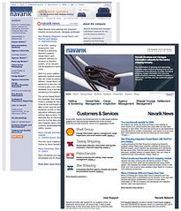 Navarik new website vs. old website