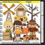 Autumn Days Clipart - CU