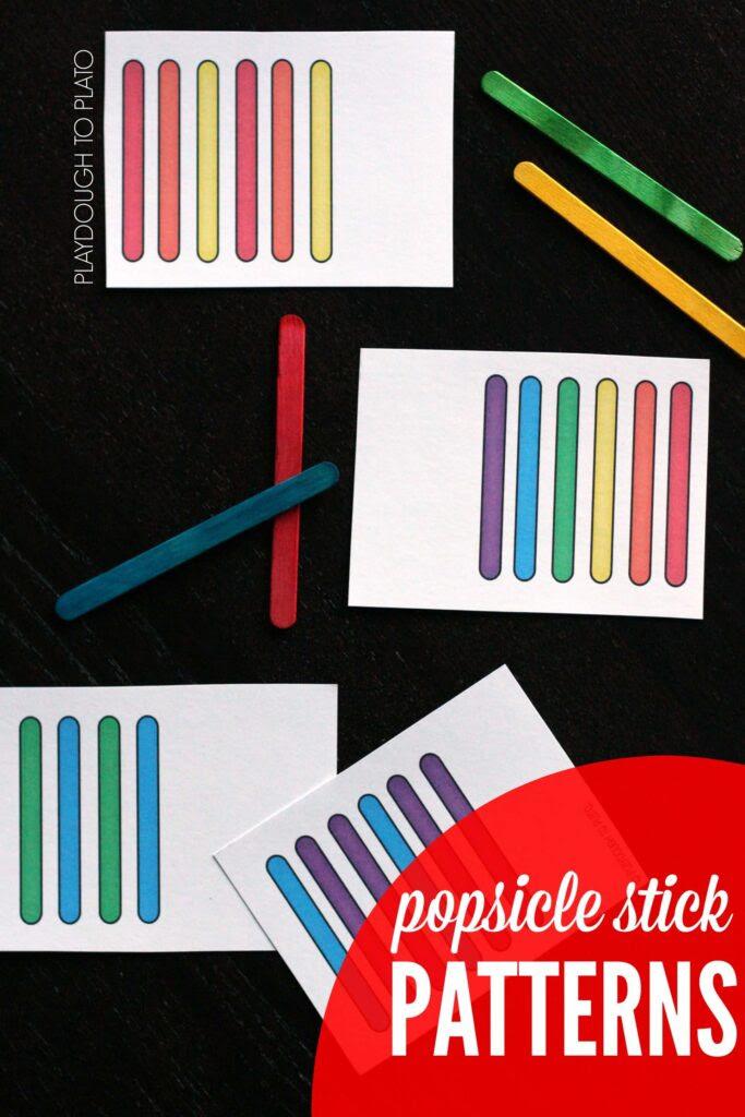 Patrones Popsicle palillo !!  ¡Una manera divertida para trabajar en los colores y patrones.