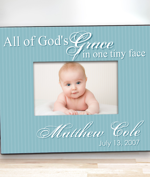 Custom Keepsake Baby Frame Gods Gift Personalize Free With Baby