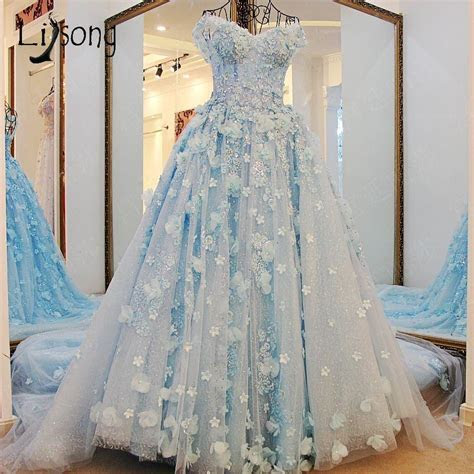Dubai Pretty Bridal Dresses 2017 Floral Pearl Wedding