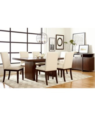 [+] 7pc Bari Dining Room Table Set