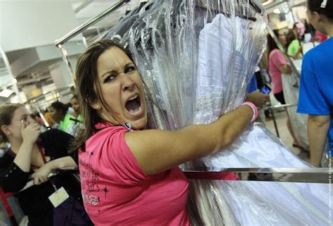 Bargain Wedding Dresses Inspire Running Of The Brides