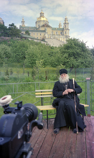 Bishop Basil (Rodzyanko) in Pochaev. Photo by Archimandrite Tikhon