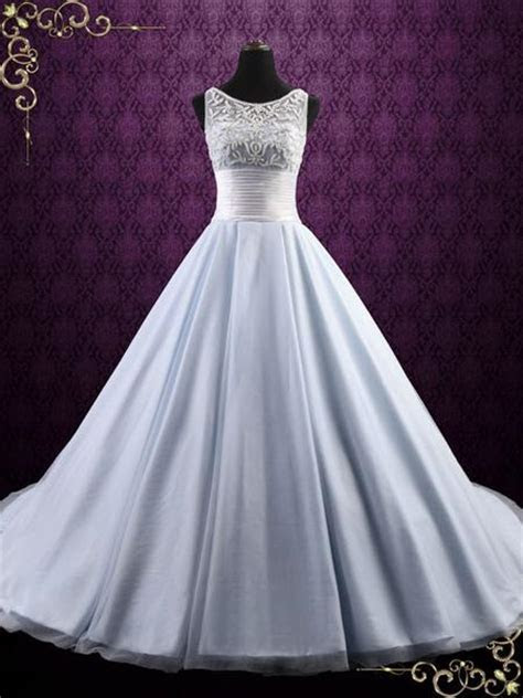 Ice Blue Ball Gown Wedding Dress   Elsa ? ieie
