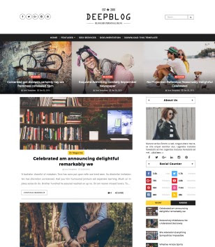 Deep Blog Blogger Templates
