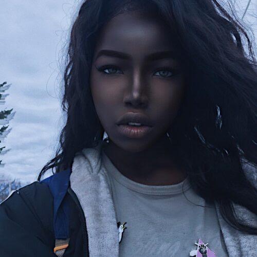 """Conheça a """"Barbie Negra"""", considerada uma das jovens mais lindas do mundo."""