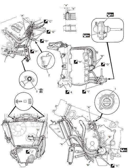 Suzuki Gsx R 1000 Service Manual Schematic And Routing Diagram Engine Cooling System Engine