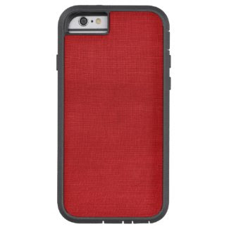 Red Linen Texture Photo iPhone 6 Tough case iPhone 6 Case