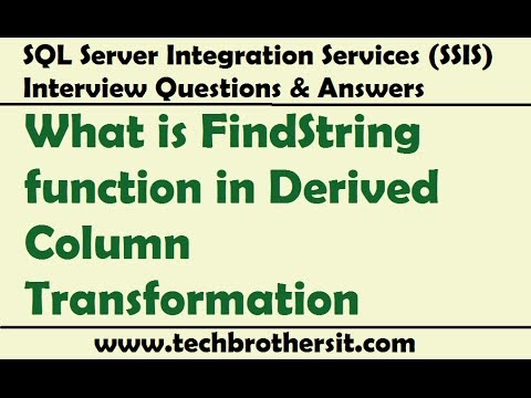 Welcome To TechBrothersIT: How to use FindString function in