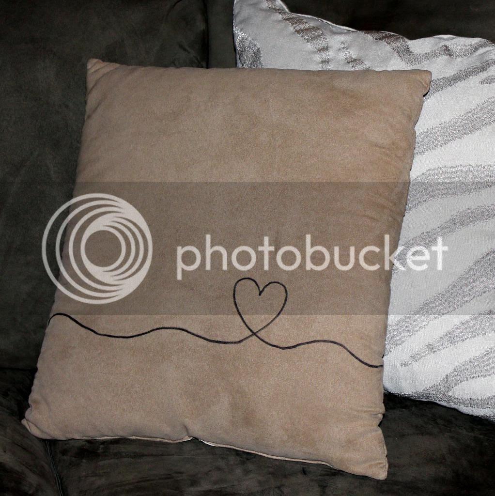 DIY Heart Line pillow