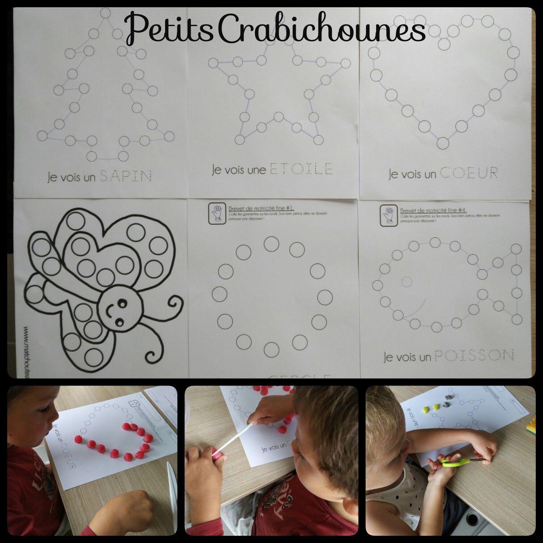 Coloriage à Gommettes Ou Playmaïs Modèles à Imprimer Collage