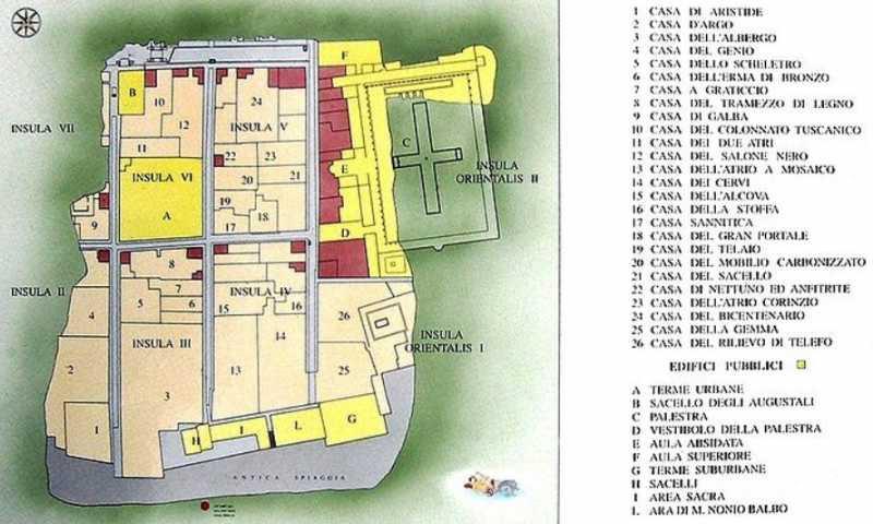 Resultado de imagen de herculano mapa