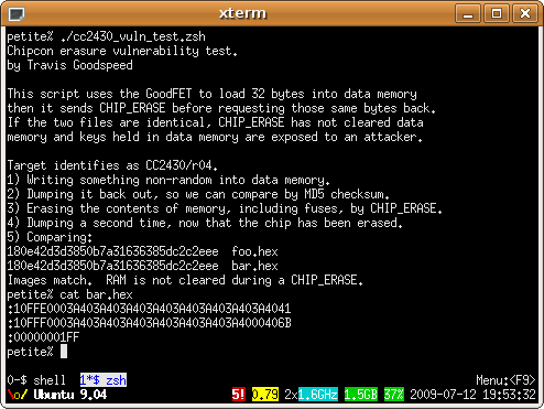 CC2430 Vulnerability Test