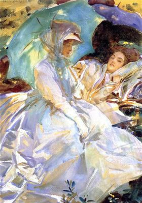 Simplon Pass. Reading - John Singer Sargent