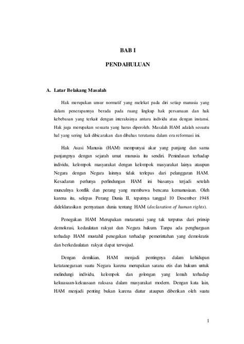 """Bab isi Makalah """"Hak Asasi Manusia"""" Mata Kuliah PKN"""