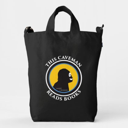 Smart Caveman: Read Books and Move Ahead Tote Bag