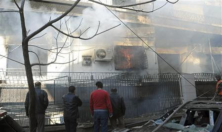 Scene in Damascus, Syria where a bombing took place near the intelligence headquarters on March 17, 2012. For the past year Syria has been under attack by western-backed rebels who are supported by special forces from the imperialist countries. by Pan-African News Wire File Photos