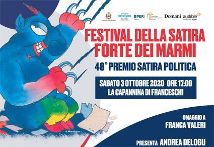 Festival della Satira: sabato 3 ottobre la consegna dei premi. Teresa   Ciabatti, Checco Zalone, Rocco Tanica, il Poiana tra i dieci vincitori. Premio alla carriera per De Sica e Vanzina