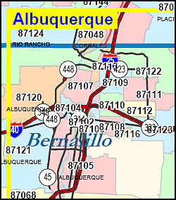 Albuquerque Nm Zip Code Map | World Map Gray