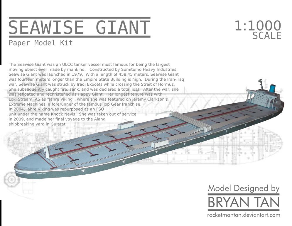 Seawise Giant Papercraft Knock Nevis