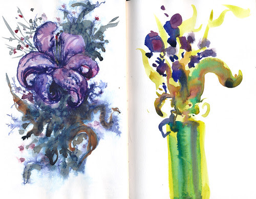 March 2013: Life of a Bouquet of Flowers