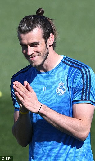 Gareth Bale looked equally excited ahead of the semi-final