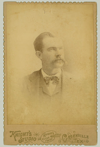 Cabinet Card man with bow tie