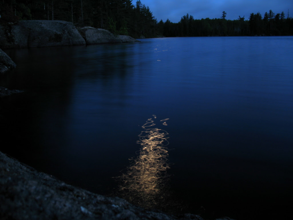 The moonlight dances on the waters in the BWCA