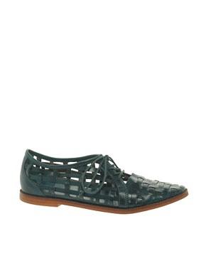 Image 1 ofASOS MANGO Leather Flat Shoes