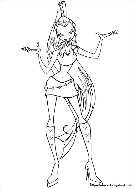 Winx Fairies Fan Creations Coloring Pages
