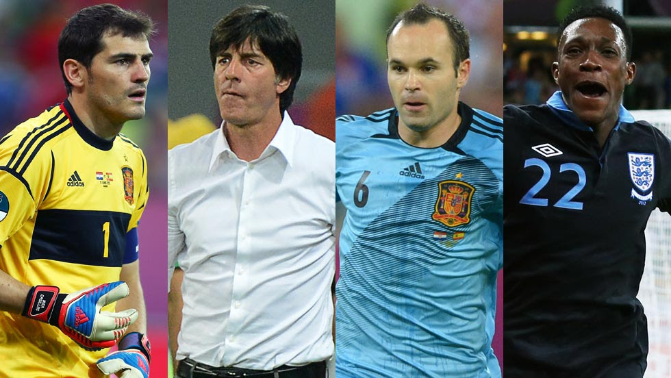 (left-right) Iker Casillas, Joachim Low, Andres Iniesta and Danny Welbeck have all made an impact. (Getty Images)