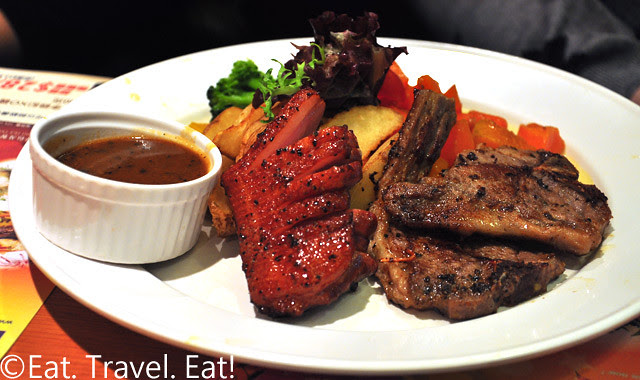 YLK, Hang Hou, Hong Kong: Lamb Chops and Smoked Duck Breast